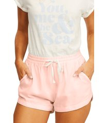 billabong 'road trippin' shorts, size small in tropical peach at nordstrom