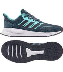 tenis running aguamarina adidas runfalcon ee8169  con envio gratis