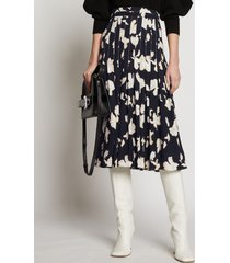 proenza schouler painted iris skirt black/off white painted iris 8