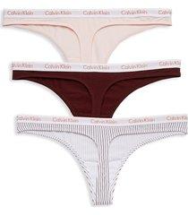 calvin klein women's 3-pack thong panties - whte - size l