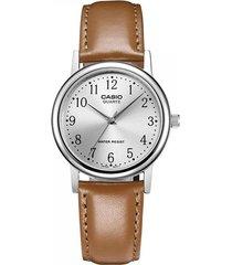 reloj casio mtp1095e7b marròn cuero