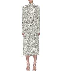 'reba' graphic print fringe back dress