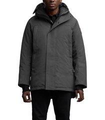 men's canada goose sanford 625 fill power down hooded parka, size large - grey