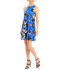 kasper floral-print dress