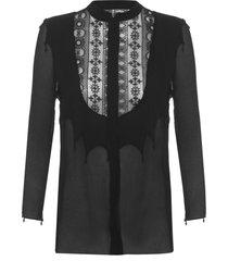 blusa feminina top obsidiana - preto