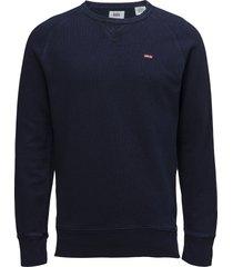 original hm icon crew indigo sweat-shirt trui blauw levi´s men