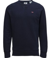 original hm icon crew indigo sweat-shirt trui blauw levi´s men
