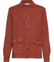 dhalto jacket zomerjas dunne jas rood denim hunter