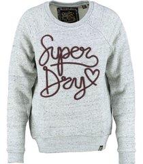 superdry grijze sweater