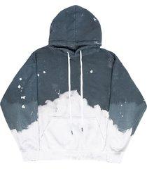 acid wash charcoal hoodie jumper
