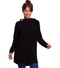 asymetryczna bluza-czarna(b-176)