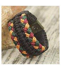 men's wristband bracelet, 'barima braid' (ghana)