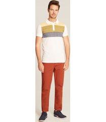 pantalón tipo jean naranja 36