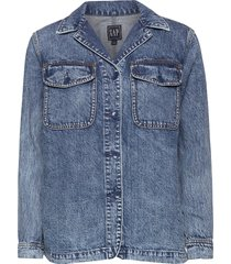 denim shirt jacket jeansjacka denimjacka blå gap