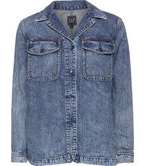 denim shirt jacket jeansjacka denimjacka blå gap
