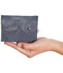 mini portfel grafit zamsz