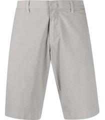 fay straight leg chino shorts - grey