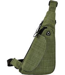 borsa a tracolla in nylon impermeabile per esterni da uomo e da donna