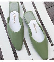 sandalias antideslizantes para mujer baotou-vert