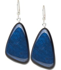 style & co resin colored triangular statement earrings, created for macy's