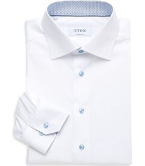 eton men's contemporary-fit solid dress shirt - white - size 15