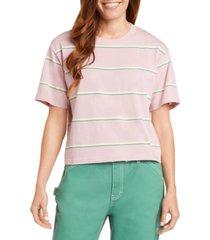 dickies juniors' cotton striped t-shirt