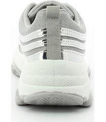 tenis para mujer marca via spring color plata via spring - plateado