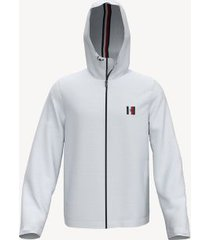 tommy hilfiger men's essential hooded jacket bright white - s