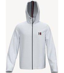 tommy hilfiger men's essential hooded jacket bright white - xxxl