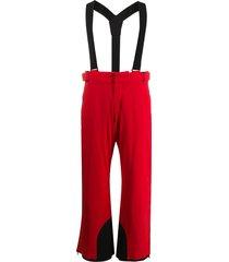 moncler grenoble shoulder strap ski trousers - red