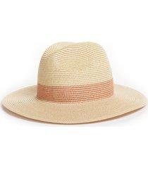 women's halogen packable panama hat - pink