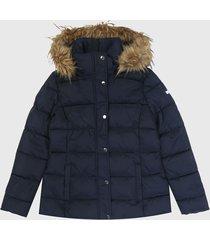 chaqueta azul navy-beige tommy hilfiger
