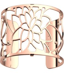 les georgettes by altesse openwork wide adjustable cuff nenuphar bracelet, 40mm, 1.6in