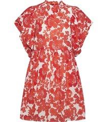 amelie print kort klänning röd hofmann copenhagen