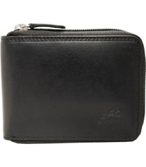 mancini boulder collection rfid secure zippered wallet with removable passcase