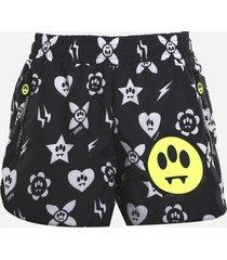 barrow nylon shorts with all-over print