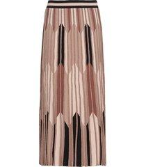d.exterior long skirt with chevron inlay