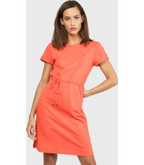 vestido tommy hilfiger coral - calce regular