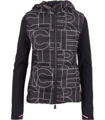 moncler grenoble zip up polyamide down jacket
