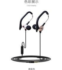 audífonos estéreo hd manos libres deportivos, kdk-45 hifi estereofonia con cable de deporte en el oído auricular auriculares earbuds (oro)