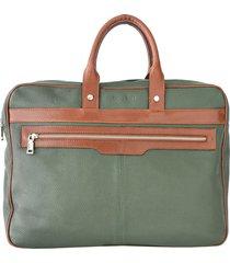 maletín verde briganti jones