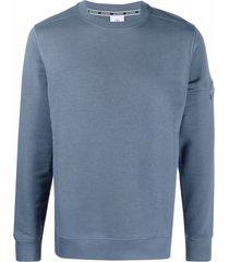 bogner zipped-pocket cotton-blend sweatshirt - blue