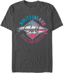 jaws men's distressed amity island short sleeve t-shirt
