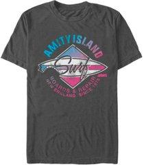 jaws men's distressed amity island short sleeve t-shirt