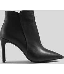 na-kd shoes warm lined stiletto boots - black