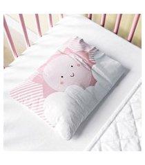 fronha bebê nuvem de algodáo sol rosa gráo de gente rosa.