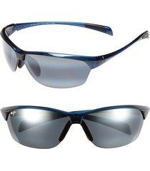 women's maui jim hot sands 71mm polarizedplus2 sunglasses - blue/ neutral