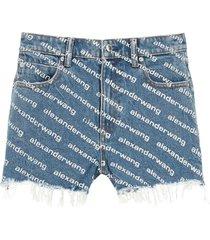 alexander wang bite denim shorts