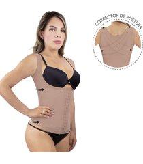 chaleco corrector de postura mujer-uso diario-colombiana-color beige