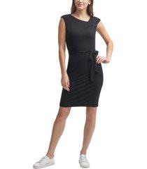 calvin klein petite belted sheath dress